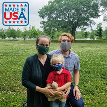Load image into Gallery viewer, Family Wearing Face Masks Made In USA