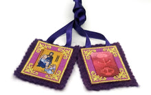 Cargar imagen en el visor de la galería, Purple Scapular of Marie Julie Jahenny. Benediction and Protection