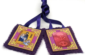 Purple Scapular of Marie Julie Jahenny. Benediction and Protection