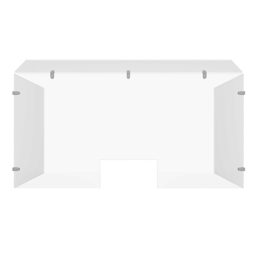 Sneeze Guard Acrylic Plexiglass - U Shape with Hood