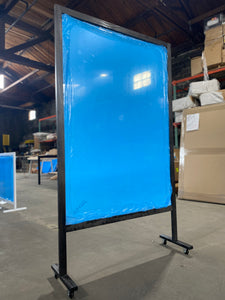 Clear Wall Partition with Wheels