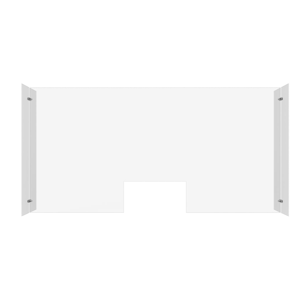 Clear Plexiglass Sneeze Guard Freestanding