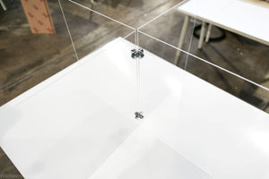 Sneeze Guards: Clear Acrylic 4-Way Table Divider Shield