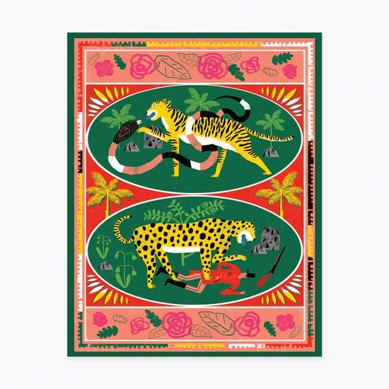 BIG CATS ART PRINT