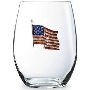 AMERICAN FLAG STEMLESS WINE GLASS 0900-011-200