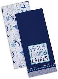 PEACE LOVE & LATKES SET OF 2 TOWELS 29609