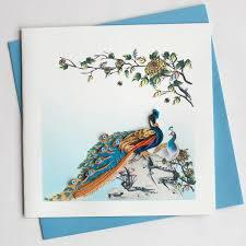 PEACOCK CARD  QUILLING BL979