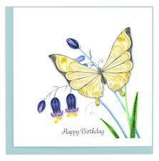 BIRTHDAY BUTTERFLY QUILLING CARD BD165