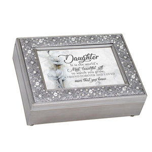 DAUGHTER SILVER FILIGREEMUSIC BOX FM159GB