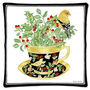 HOLLY TEA CUP SPICED HOT PAD 12-355