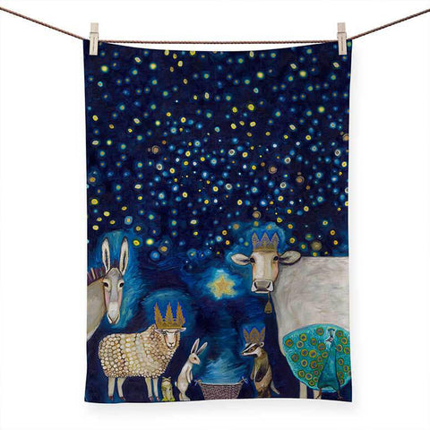 ANIMAL NATIVITY TEA TOWEL NB84722