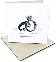 WEDDING RINGS QUILLING CARD LV206
