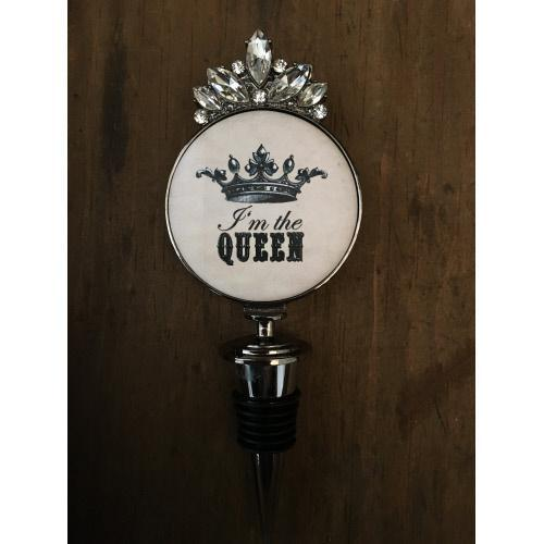 I'M THE QUEEN WINE STOPPER - WBS-25