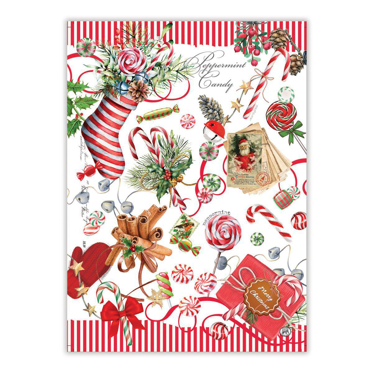 PEPPERMINT KITCHEN TOWEL TOW347