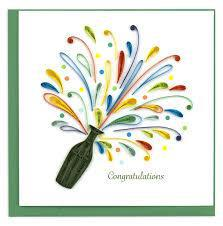 CELEBRATION CONGRATULATION QUILLING CARD CG804