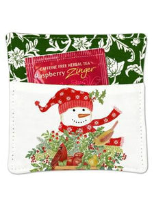 SNOWMAN MUG MAT WITH TEA 39-352