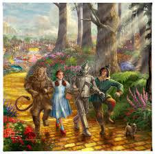 FOLLOW THE YELLOW BRICK ROAD 14X14
