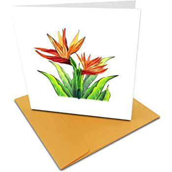 BIRD OF PARADISE QUILLING CARD