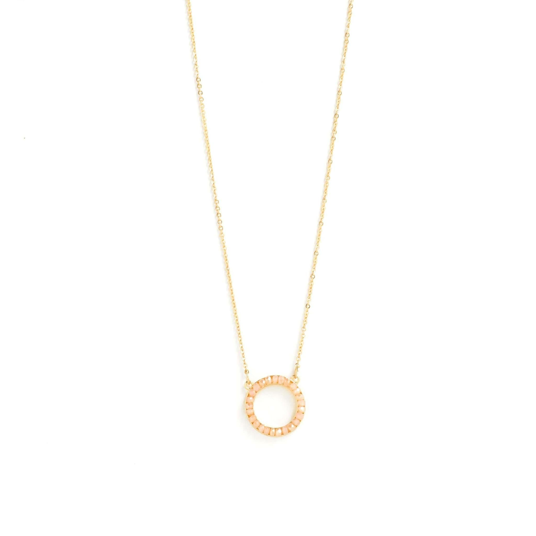 DUSTY ROSE CIRCLE NECKLACE N7071-GDR