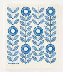 BLUE SUNFLOWERS SWEDISH DISHCLOTH