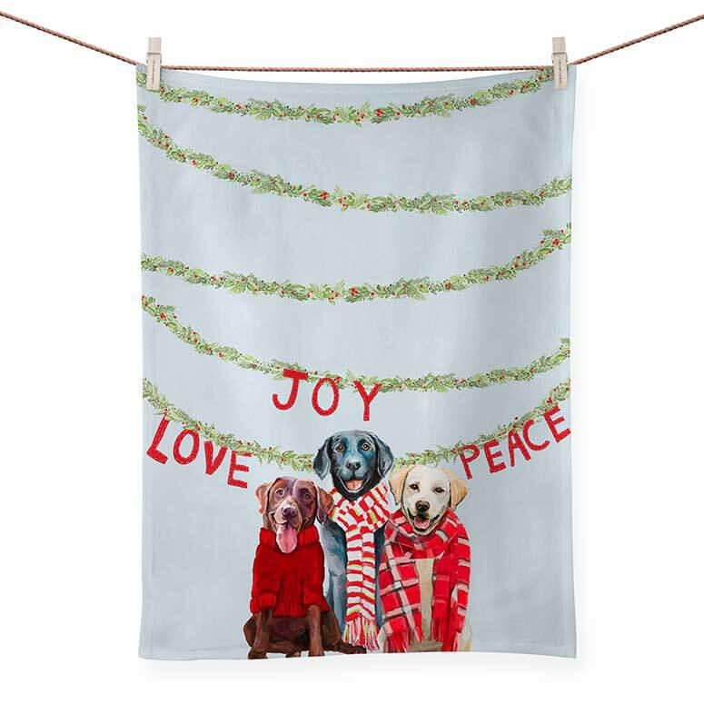 HOLIDAY LAB LOVE TEA TOWEL NB96234