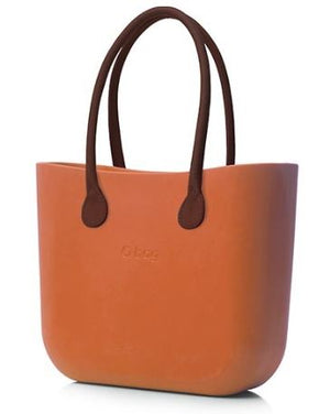 Classic Papaya long brown leather handles.