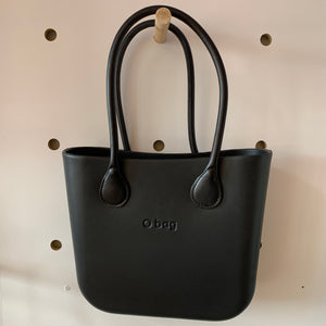 Black Mini with black leather handles