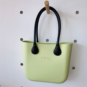 Celery mini with Black leather handles.