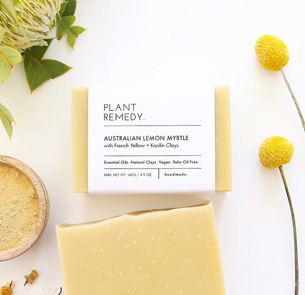 Lemon Myrtle with French Yellow and Kaolin Clays Soap
