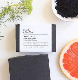May Chang + Pink Grapefruit with Acitvated Charcoal Soap