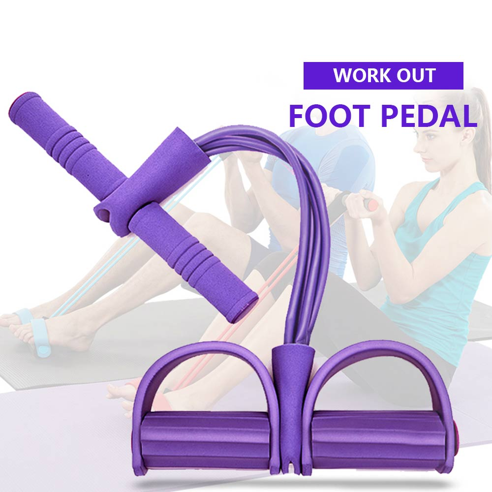 Fitness Pedal Exerciser Sit-up Pull Rope Expandera Elastic Bands