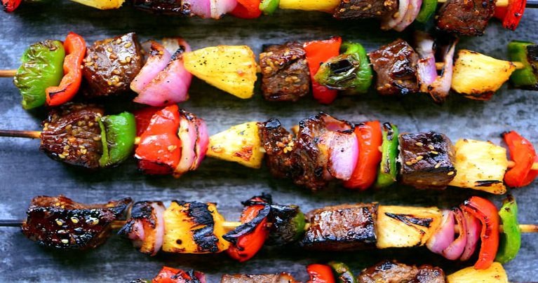 Grilled Hawaiian Teriyaki Beef Skewers Recipe