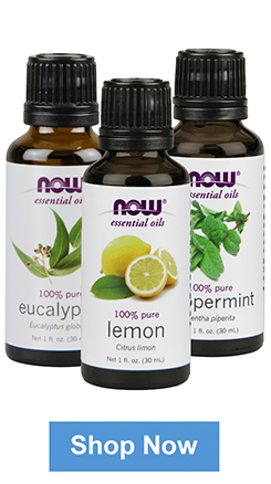 Lemon Oil, Eucalyptus Oil, and Peppermint Oil