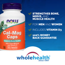 Load image into Gallery viewer, NOW® Cal-Mag Capsules (120 Capsules)