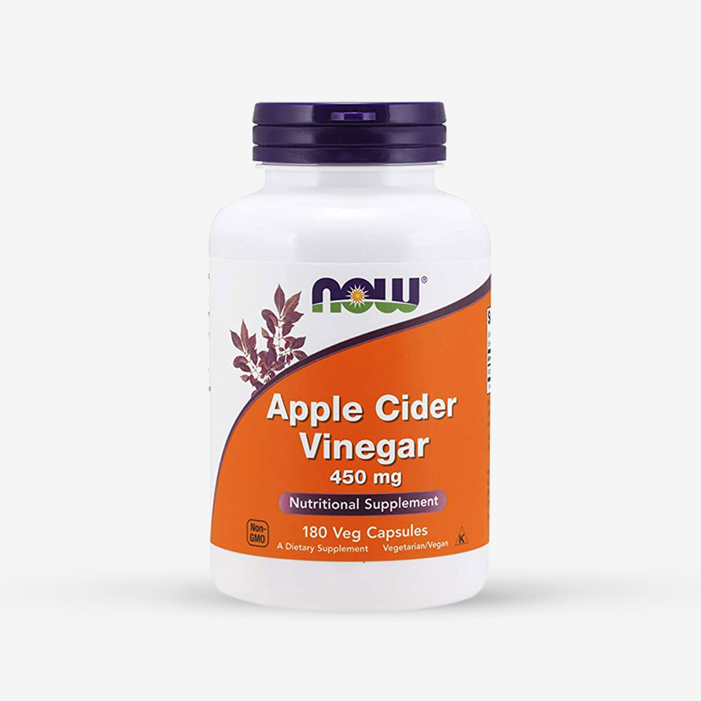 NOW Apple Cider Vinegar 450mg (180 Veg Capsules)