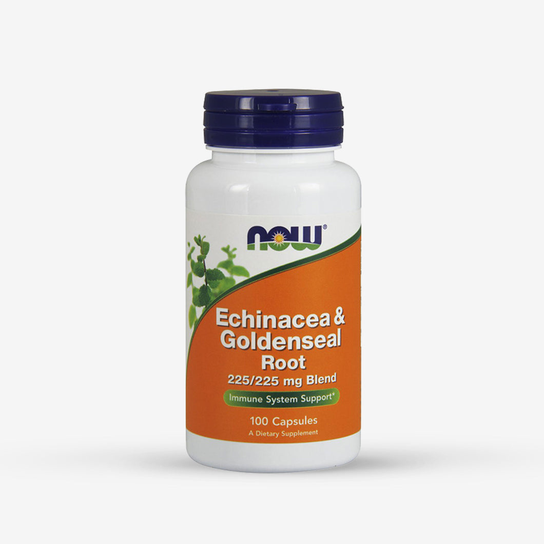 NOW® Echinacea & Goldenseal 225mg (100 Capsules)