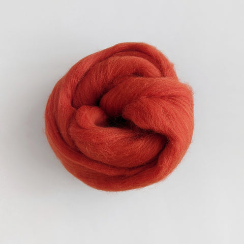 Merino Wool Roving - Carmine Red