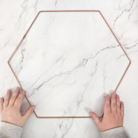 Metal Hexagon Frame