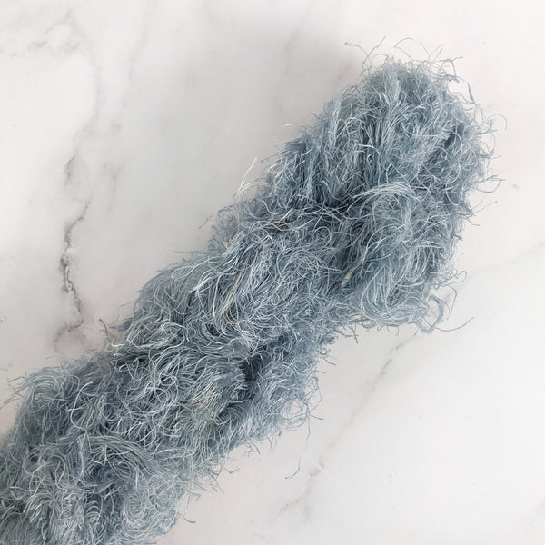 Linen Frizz Ribbon - Steel Blue