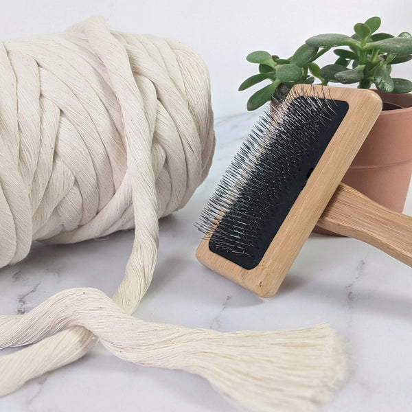 Cotton String Brush for Macrame & Weaving