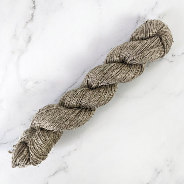 Organic Raw Linen Hand Spun Yarn - *Thin*