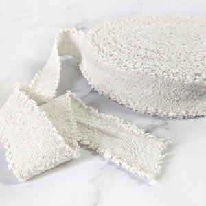 Recycled Cotton Ribbon - Natural/Cream