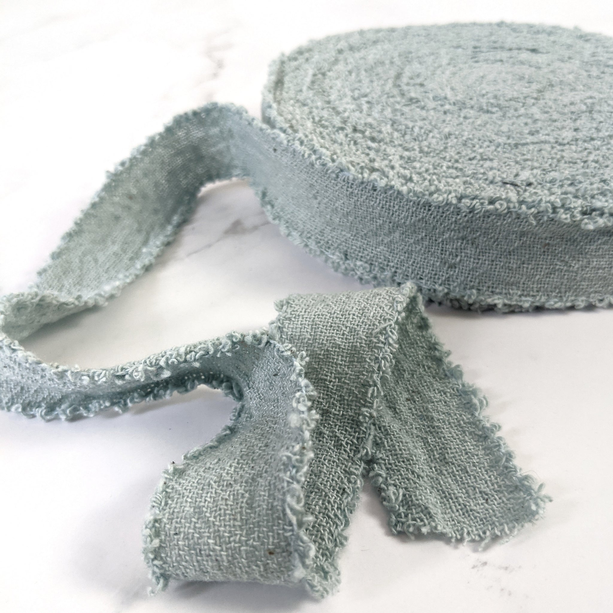Recycled Cotton Ribbon - Teal