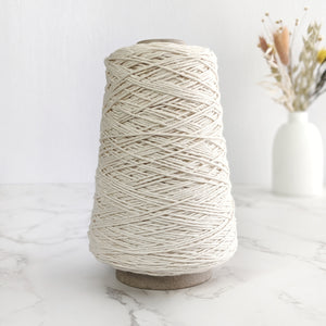 1.5mm Cotton String/Warp - Natural/Cream - 200g