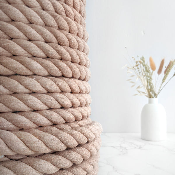Jumbo 20mm Cotton Rope - By The Meter - 'Antique Peach'