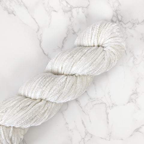 Chenille Velvet Yarn - Off White