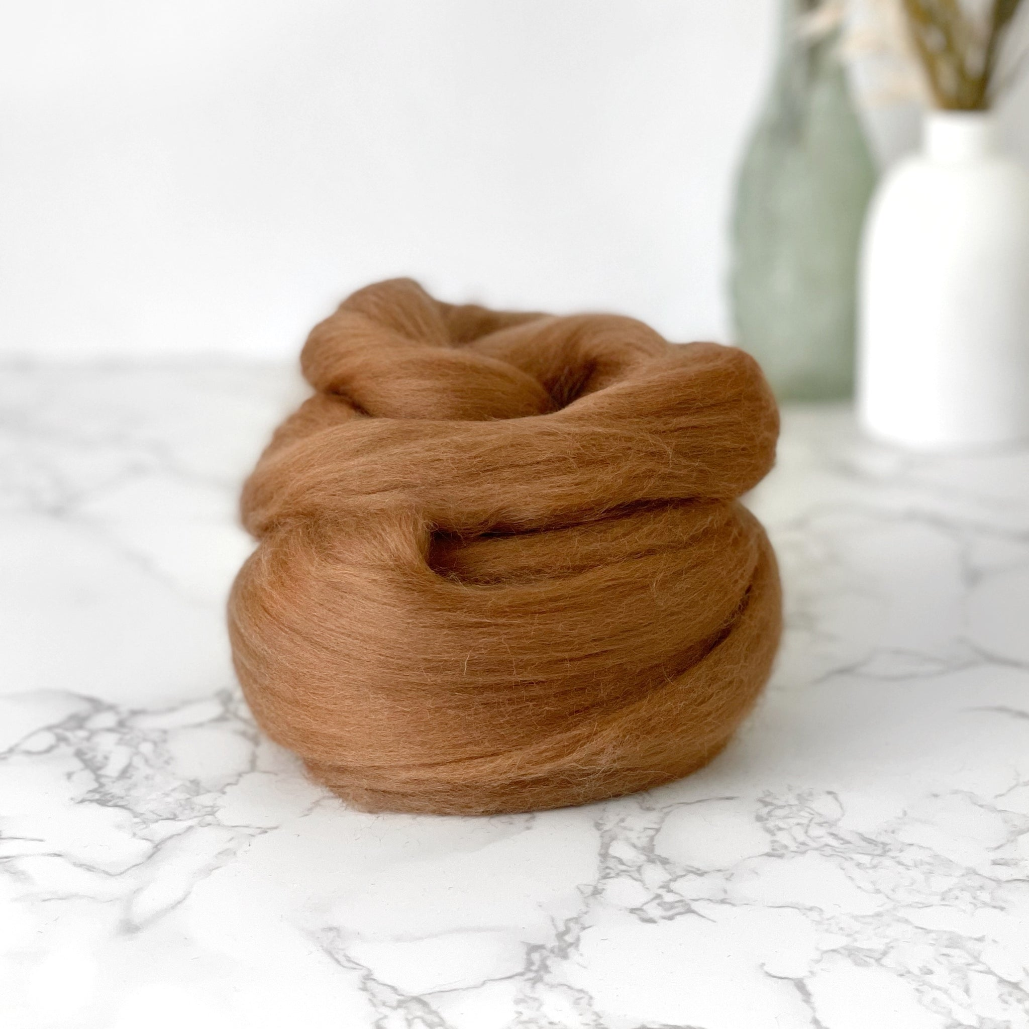 Fine Merino Wool Top Roving - Alder