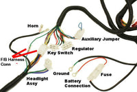 Complete GY6 Scooter Wire Harness