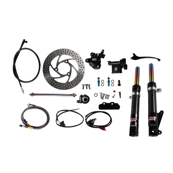 NCY Front End Kit (Carbon Fiber, No Rim); Honda Ruckus