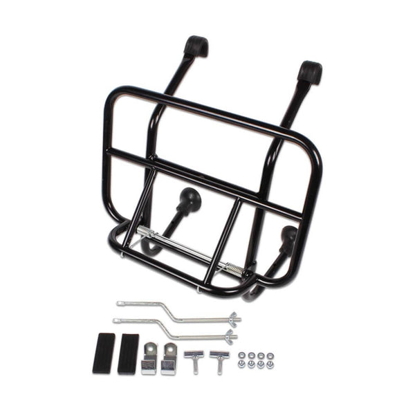 Cuppini Front Rack (Black); All vintage Vespas, Stella